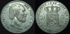 Netherlands 2.5 Gulden Willem III 1858