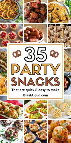 Be the party favorite with these yummy and easy party snack ideas. Check out some of the yummiest bite sized party finger foods to bring to your next party as appetizers and snacks!