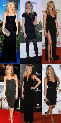 Jen Aniston's selection of LBD at events