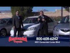 Centennial Toyota programa 1 de El Jefe Dice Menos Autos nuevos y usados.  Si usted vive en Henderson o en Las Vegas en Nevada no hay problema ahora at Centennial Toyota en la 6551centennial Center Blvd Las Vegas, Nevada 89149 o si tiene pregunta puede llamar a: 1800 6086242 Donde El Jefe Dice menos.