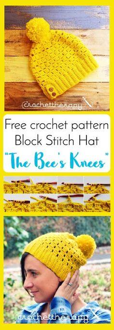 Free Crochet Block Stitch Hat Pattern, Happy Crochet Slouch