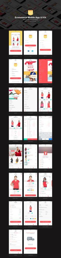 Ecommerce Mobile UI Kit – iOSUp