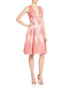 Buy Aidan Mattox Women's Pink Sleeveless Lace Fit & Flare Dress, starting at $84. Similar products also available. SALE now on!
