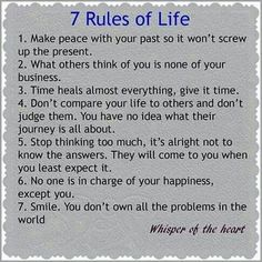 KEY TO A HAPPY LIFE: RULES OF A HAPPY LIFE