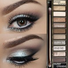Urban Decay Naked 2 palette look. This looks amazing for a night out with the girls.