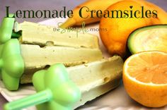 a simple real food recipe :: lemonade creamsicles