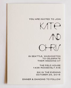 """Sample of Invitation suite includes invite and RSVP. Letterpress invitation is 5"""" x 7"""", RSVP is 3.5"""" x 5"""". Printed on cotton paper. Custom color and wording available. Email info@mikspress.com for a c"""