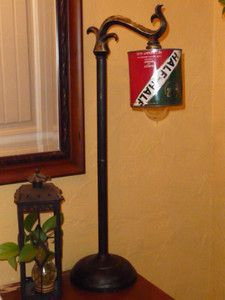 { neat idea for your favorite canned food brand :-P } Antique Vintage Repurposed Industrial Tobacco Can Lamp Light   eBay