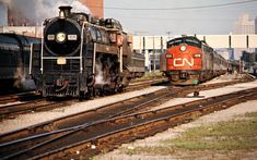 Canadian National Railway by John F. Bjorklund – Center for Railroad Photography & Art Diesel Locomotive, Steam Locomotive, Railroad Photography, Art Photography, Canadian National Railway, National Railways, Fort Erie, Snow Plow, Steam Engine