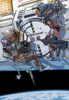 Space Pirates by thdark.deviantart.com on @DeviantArt