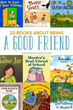 Looking for books about friends for kindergarten, preschool and toddler kids? Being a good friend to others is an important skill children need to learn. Read these 23 children's books about being a good friend to remind your kids the values of being kind to others.
