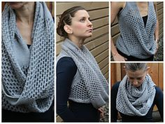 Diy Crafts - sleeveless in Vancouver by Jenny Faifel knit sweater/cowl with fingering weight yarn Knitting Projects, Knitting Patterns, Crochet Patterns, Knit Cowl, Knitted Shawls, Cowl Scarf, Crochet Shrug Pattern, Crochet Stitches, Love Crochet