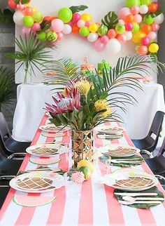 When it comes to birthday party themes, the more creative the better. So when this tropical Tutti Frutti birthday party landed in our inbox, we were immediately smitten.