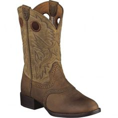10001798 Youth Heritage Western Ariat Boots - Brown www.bootbay.com