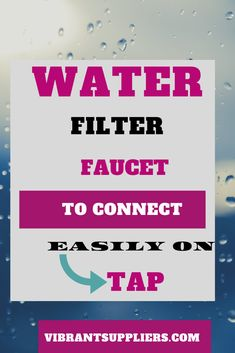 Water filter faucet are installed in your kitchen tap to help remove potentially unsafe contaminants that are picked up on its way through old pipes/household plumbing