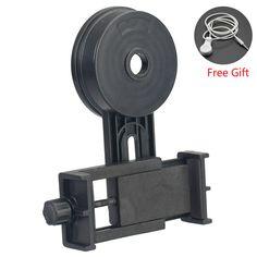 Universal Telescope Transfer Bracket Smartphone Photograph Clip Adapter Compatible with Binocular Monocular Spotting Scopes #Affiliate
