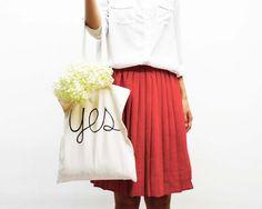 hand screenprinted cotton shopping bag  van AIYshop op DaWanda.com