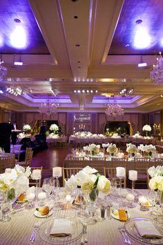 It was a purple kind of night at Four Seasons Hotel Boston Ballroom