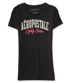 Camiseta Aeropostale Feminina EIGHTY SEVEN - Chumbo Regata Feminina c936915c8773d