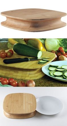 I'm digging Patrick Jouin's chunky bamboo cutting board for Alessi, new for Fall/Winter 2010. Dubbed the Chop, it's extra-thick and features a concave groove around the rim so you can slide a plate next to it; just cut and swipe to transfer your veggies to the plate, no lifting and...