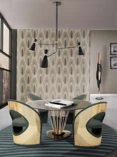Take a look at this amazing home interior design trends and how they fit perfectly into your dining room decor! Decoration Inspiration, Dining Room Inspiration, Interior Design Inspiration, Decor Ideas, Lamp Ideas, Design Moderne, Deco Design, Design Trends, Design Ideas