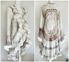DIY Crochet Mandala Motif Sweater Instruction-Crochet Circular Vest Sweater Jacket Free Pattern