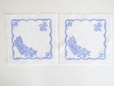 2 Kalocsa square doilies pattern print from Hungary New 6 1/4'' x 6 1/4'' b in Collectibles, Linens & Textiles (1930-Now), Lace, Crochet & Doilies | eBay