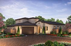 Citron at The Grove in Camarillo, CA by Shea Homes | Residence 4XE Exterior Rendering   #sheahomes #sheahomessocal #livethedifference #liveethesheadifference #CitronAtTheGrove #Camarillo #newhomes #venturanewhomes #venturacounty #realestate Sales: Shea Homes Marketing Company (CalDRE #01378646), Construction: SHSC GC, Inc. (CSLB #1012096). Equal Housing Opportunity.