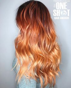 Redhead balayage hair dyed hair, ginger hair dyed и hair sty Brown Ombre Hair, Ombre Hair Color, Red Hair, Hair Colors, Ginger Hair Dyed, Ginger Ombre, Pelo Popular, Lange Blonde, Really Long Hair