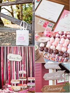 Pink and brown wedding inspiration. (Julie Lockhart - Locked Hearts Events and Wedding Planning - WV WEDDINGS - http://www.mywvwedding.com/Planners-Palette/August-2012/Soft-Pinks-Rich-Browns/)