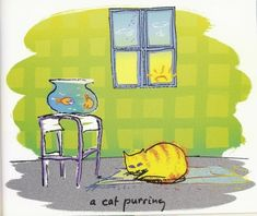 a cat purring | from  Real Love - the Drawings for Sean, by John Lennon