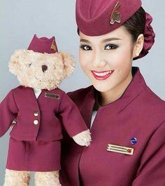 Qatar airways cabin crew @qatarairways
