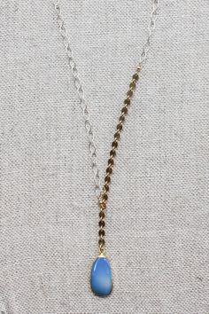 B. Alli Blue Druzy Y Necklace
