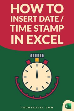 There are multiple ways you can use to insert the date and time in Excel. you can use a keyboard shortcut or you can use formulas.    In this Excel tips tutorial, I don't show you 3 really easy ways to insert datestamps and timestamps in Excel.    The following methods are covered in this tutorial to insert timestamp in Excel:  1. Keyboard Shortcut  2. TODAY Computer Basics, Computer Tips, Microsoft Excel Formulas, Excel For Beginners, Excel Hacks, Small Business Help, Pivot Table, Skills To Learn, Apple Logo