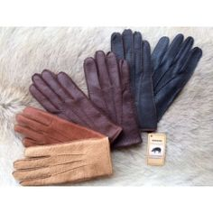 eb7fc6dd9d508 Men's Simple Peccary Leather Gloves Driving Gloves, Mens Gloves, Tan Leather,  Leather Gloves