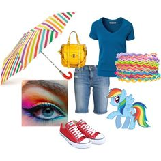 """""""Casual Fall Outfit inspired by My Little Pony Rainbow ..."""