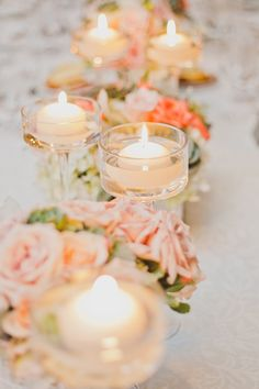 romantic pink centerpieces | Elyse Hall Photography | Glamour & Grace
