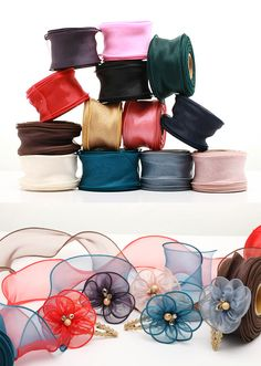 Crystal Organdy Wire Ribbon 20 yards 6cm  13Colors by HOLYCO