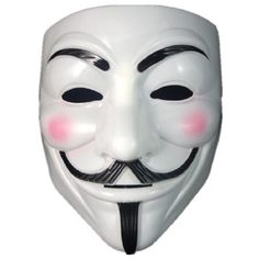 """Smartoy V For Vendetta Mask Guy Fawkes Halloween Masquerade Party Face Smartoy - this mask came from """"V for Vendetta"""".  Guy Fawkes was a real historical figure https://en.wikipedia.org/wiki/Guy_Fawkes"""