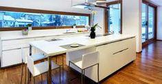 belles cuisines - Recherche Google Kitchen Dining, Kitchen Island, Dining Room, White Wood, Kitchen Interior, Recherche Google, Interiors, Furniture, Design