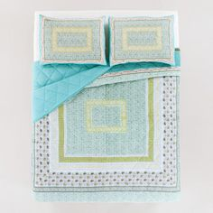 What I actually ended up with. It is much darker and quite olive colored in real life. Neelam Teal Bedding Collection