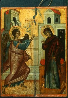 """Annunciation,"" The Sinai Icon Collection Byzantine Icons, Byzantine Art, Constantine The Great, Russian Icons, Religious Paintings, Best Icons, Icon Collection, Religious Icons, Orthodox Icons"