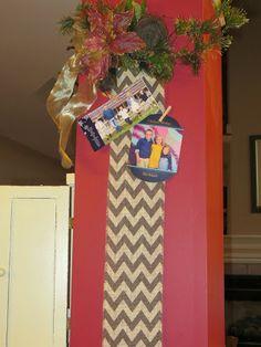 DIY Burlap Ribbon Chirstmas Card Holder Tutorial