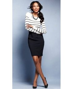 8 spring work outfits with a black skirt - Page 2 of 8 - women-outfits.com