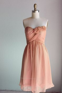 Bridesmaid Dress/sweetheart dress/strapless  by RenzRags on Etsy, $98.00