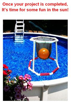 DIY pool basketball