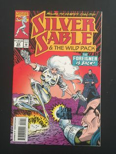 silver sable marvel comics pin images | Box 35c, Comic Marvel, Silver Sable & The Wild Pack, # 24 may | eBay