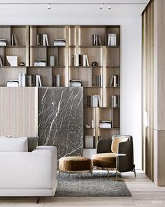 Modern home design Luxury Home Decor, Luxury Interior Design, Simple Interior, Interior Ideas, Interior Styling, Interior Architecture, Living Room Display Cabinet, Display Cabinets, Bookshelf Design