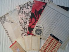Simple Black and Red Scrapbooking Kit 74 by ScrapChicKits on Etsy, $6.99