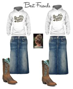 """Best Friends"" by angie-rhoton on Polyvore featuring Mother and Justin Boots"